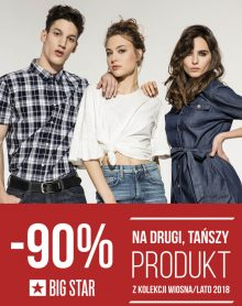 BIG STAR – 90% na drugi produkt!